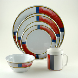 Life Preserver Melamine Dinnerware Set - Click to enlarge