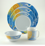Ocean Breeze Melamine Dinnerware Set