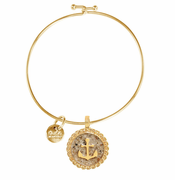 Gold Anchor Beach Bangle
