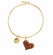 Gold Heart Beach Bangle