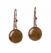 Gold Overlay Sandglobe Earrings