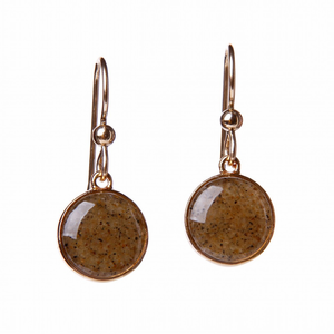Gold Overlay Sandglobe Earrings - Click to enlarge