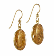 Gold Overlay Sandrop Earrings