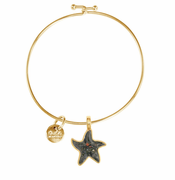 Gold Starfish Beach Bangle