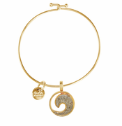 Gold Wave Beach Bangle