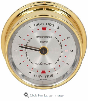 Harbormaster PVD Tide Clock - Click to enlarge