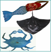Iron Sea Life Sculptures