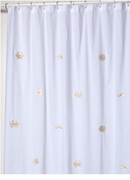 Beige Sea Life Shower Curtain