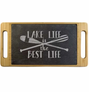 Lake Life is the Best Life Slate & Bamboo Serving Tray