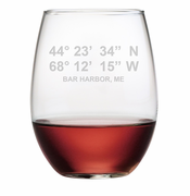 Latitude Longitude Stemless Wine Glasses