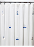 Lighthouse & Sailboat Shower Curtain