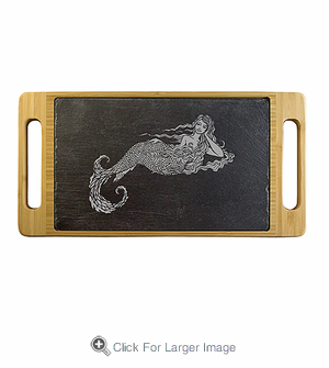 Marina the Mermaid Slate & Bamboo Serving Tray - Click to enlarge