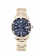 Men's Classic Blue Dial Stainless Steel Watch