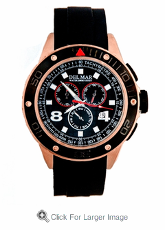 Men's Rugged Copper Sport Chronograph Watch - Click to enlarge