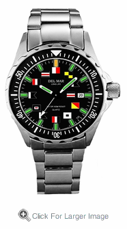 Men's SuperGlo Nautical Flags Watch - Click to enlarge