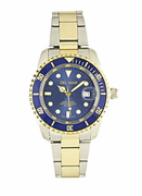 Men's Two Tone Blue Dial Sport Watch
