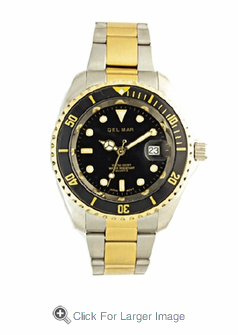 �Men's Two Tone Sport Dive Watch - Click to enlarge