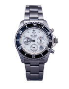 Men's White Anchor Dial Chronograph Watch