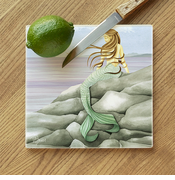 Mermaid Glass Cutting Board
