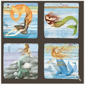 Mermaid Lighthouse Coasters