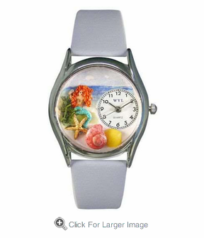 Mermaid  Silver Watch - Click to enlarge
