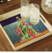 Mermaids Under the Sea Tree Tray