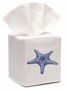 Morning Blue Starfish Tissue Box Cover