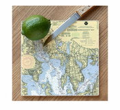 Nautical Chart Cutting Board
