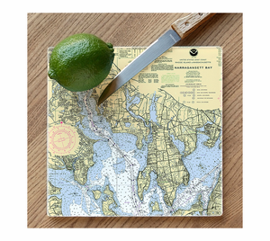 Nautical Chart Cutting Board - Click to enlarge