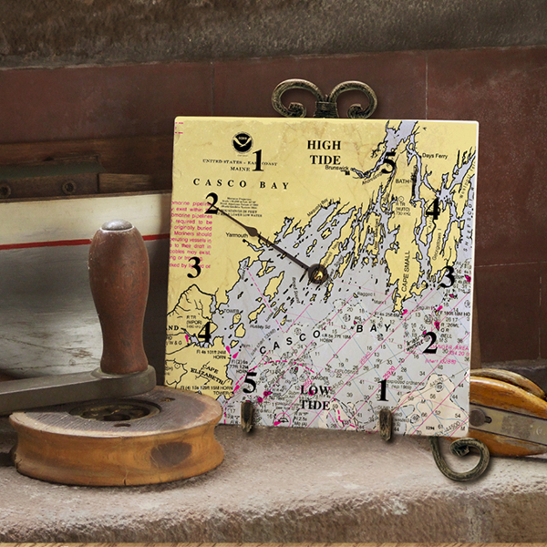 Nautical Chart Tide Clock