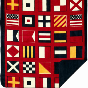 Nautical Flags Microplush Throw - Click to enlarge