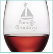 Nautical Holiday Glassware