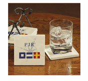 Nautical Flags &  Initials Coasters