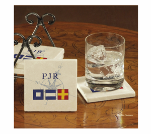 Nautical Flags &  Initials Coasters - Click to enlarge