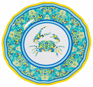 Paisley Crab Melamine Dinnerware - Click to enlarge