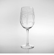Palm Tree White Wine Goblets