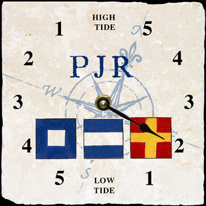 Personalized Nautical Flag Tide Clock - Click to enlarge