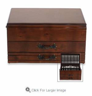 Personalized  Provincial Flatware Chest - Click to enlarge