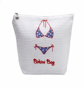 Red & Blue Bikini Bag