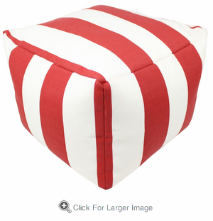 Red Cabana Pouf - Click to enlarge