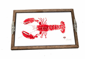 Red Lobster Driftwood Tray