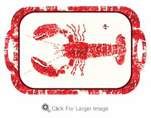 Red Lobster Gyotaku Melamine Tray - Click to enlarge