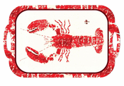 Red Lobster Gyotaku Melamine Tray