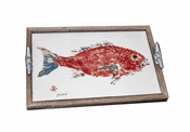 Red Snapper Driftwood Tray