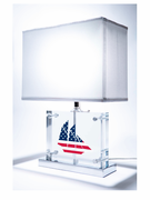 Red, White & Blue Sailboat Table Lamp