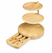 Regalio Swiviling Plates & Cheese Board with Utensils
