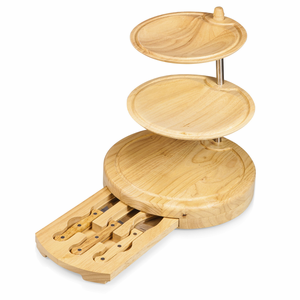 Regalio Swiviling Plates & Cheese Board with Utensils - Click to enlarge