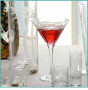 Rolf Palm Tree Glassware