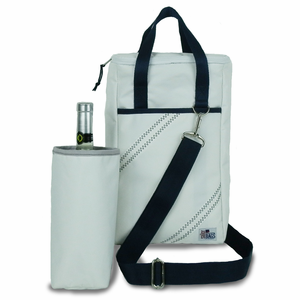 2-Bottle Newport Insulated Sailcloth Wine Tote - Click to enlarge