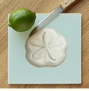 Sand Dollar Glass Cutting Board